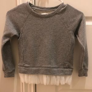 J. Crew Crewcuts Girl's Gray/Tulle Sweatshirt